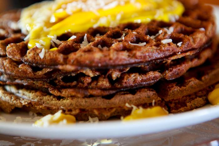 Zucchini Waffles with Raw Mango Mousse_Vegan_Recipe04