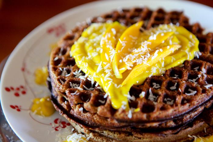 Zucchini Waffles with Raw Mango Mousse_Vegan_Recipe05