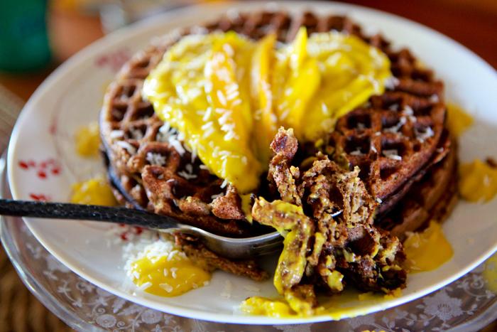 Zucchini Waffles with Raw Mango Mousse_Vegan_Recipe06