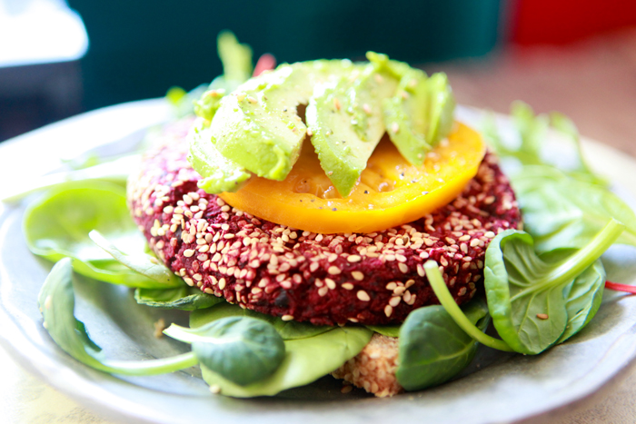 Beet Veggie PattyVegan Recipe00