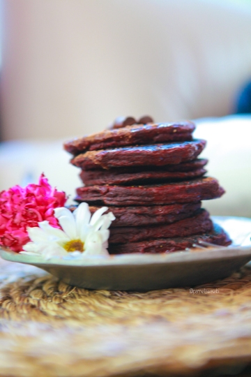 Beet Buckwheat PancakesVegan Recipe30