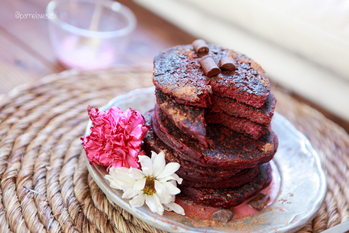 Beet Buckwheat PancakesVegan Recipe36