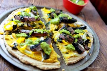 GF Pizza with Vegan CheeseVegan Recipe09