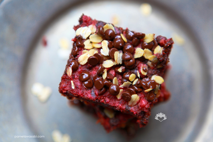 Red Velvet Brownies #vegan #glutenfree #pamelawasabi_02