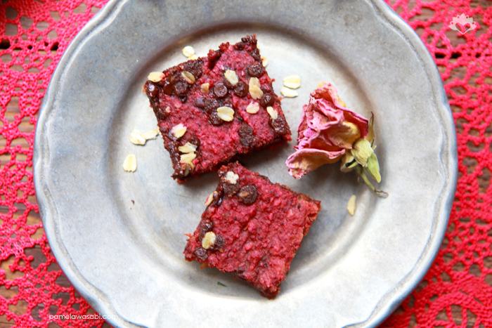 Red Velvet Brownies #vegan #glutenfree #pamelawasabi_04
