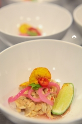 Pink Oyster Mushroom Ceviche, Cascabel