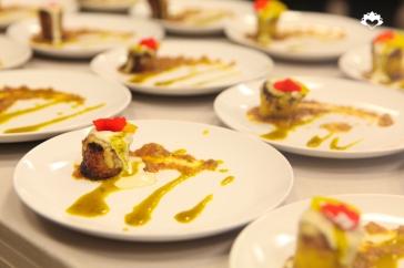 Baked Maduro, Creole Sauce, Passion Fruit Aji, Cashew Mozarella