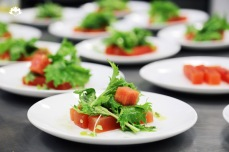 Watermelon, Basil Infused Mezcal, Mizuna