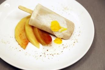 Horchata Popsicle, Sapodilla, Ginger Foam